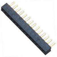 15 pin Female Header Connector Single Row Straight DIP for Automobile Manufactures