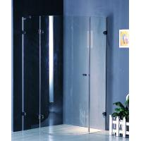 Quality Frameless 700 X 700 Shower Enclosure Corner Entry Brass Hinges Fixed for sale