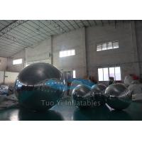 Quality Holiday Inflatable Silver Mirror Ball Balloons Dia. 5M For Display for sale