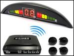 4 Sensors Red  LED Wireless Parking Sensors reverse parking System Manufactures