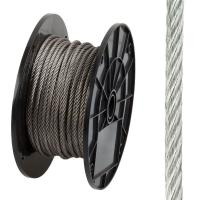 3/16 In x 125 ft Stainless Wire Rope , Uncoated Stainless Steel Rope for guy wires Manufactures