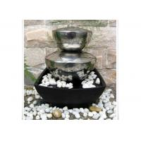 Outdoor Garden Fountain Sculpture Contemporary Stainless Steel Water Features Manufactures