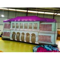 White Inflatable House Air Tight Version , Tarpaulin Rooftop Inflatables Manufactures