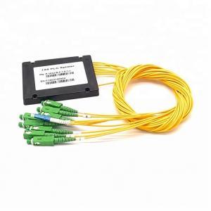 1x8 PLC Optical Cord Splitter , Optical Wire Splitter For Rack Mounted Fiber Terminal Box Manufactures