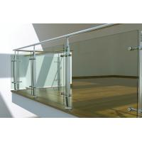 Interior Stainless Steel glass balustrade fittings, laminated glass balustrade Manufactures