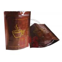 Small Resealable Plastic Zipper Bags Packaging , Coffee Stand Up Pouch Manufactures