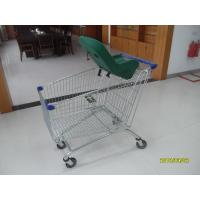 Quality 4 Wheel 210L Anti Theft Supermarket Shopping Carts With Baby Capsule for sale