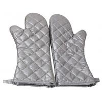 Safety Heat Proof Oven Mitts , Kitchen Oven Gloves Flexibility Extra Long Manufactures