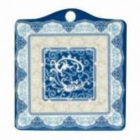 Plastic Pot Holder, Made of Melamine, Available in Various Designs, Customized Artworks are Accepted Manufactures