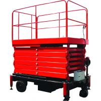 12 meters height mobile hydraulic scissor lift with motorized device loading