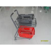 Two Tier Flat Wheel Airport Shopping Basket Trolley 50L CE / GS / ROSH Manufactures