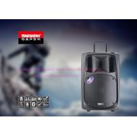 Battery Powered Bluetooth Portable Trolley Speaker With Fm Radio / Wireless Mic