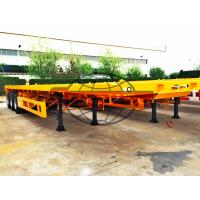 China Two Axle Container Semi Trailer 12 Pcs Tire T700 Strong Steel Material on sale