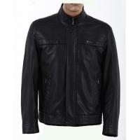 European Excelled, Stylish and Casual Black Mens Tall Designer PU Leather Jackets Manufactures