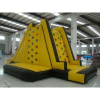 Family Indoor Inflatable Climbing Wall 0.55mm PVC tarpaulin For Children Manufactures