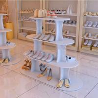 Hot Sale Shoes Store Metal Or Wood Standing Display Stand For Shoes Manufactures