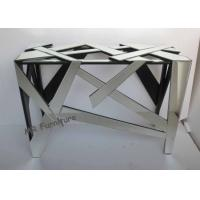Antique Mirrored Console Table Geometry Design 112 * 40 * 76cm Size Manufactures