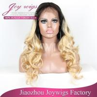 wholesale free shipping short blonde human hair full lace wig Manufactures