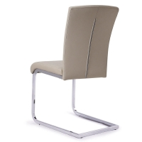 China Steel Frames Leather Seat 4 Pcs Modern Metal Dining Chairs on sale