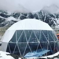 Wide Application Custom Event Geodesic Dome Tents With Clear Sidewall Manufactures