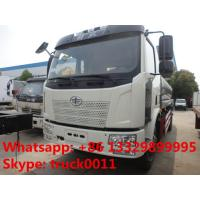 hot sale FAW brand 10,000L stainles steel food grade milk tank truck, China famous brand FAW 10,000Lliquid food truck Manufactures