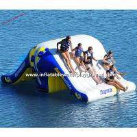 Commercial Inflatable Water Totter Slide , Large Inflatable Water Toys For Lakes Manufactures