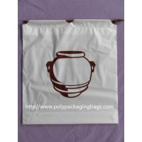 Clothing Plastic Drawstring Backpack Promotional For Shopping / Sports Manufactures
