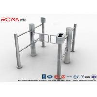 High Speed Swing Barrier Gate Double Core Biometric Stainless Steel for Fitness Center Manufactures