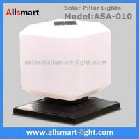 Squared Virginal Lily White Solar Pillar Lights Solar Chapiter Lamp Column Fence Lights China Factory Exporter
