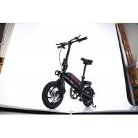 Mini Black Portable 12 Inch Electric Bike Foldable E - Bike With Replacement Battery Manufactures