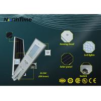 IP65 Solar Powered Street Lights Residential , Aluminum All In One Solar Light LED Manufactures