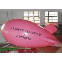 Large Pink Inflatable Balloons For Advertising Event / Airship Balloon Manufactures