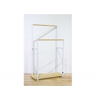 92cm High 57cm Long Bamboo Bathroom Storage Shelf With 2 Bars Manufactures