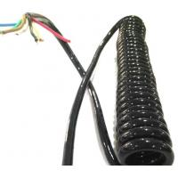 Colorful Shielded Electrical Spring Coiled Electrical Wire Curly Flex Cable Mulit Core Manufactures
