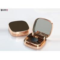 Plating Cosmetic Packaging Empty Compact Powder Case With Puff Manufactures