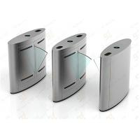 Access Control Flap Barrier Gate, Barcode RFID Reader Turnstile System Manufactures
