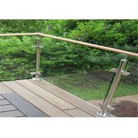 Durable Glass Balustrade Stainless Steel Handrails , Tempered Glass Railing Systems Manufactures