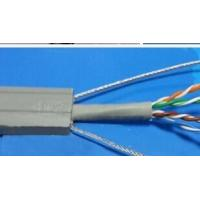 China Flat Flexible Traveling Elevator Cable with TV Camera Cable in Grey Color TVVBG-STP CAT6E on sale