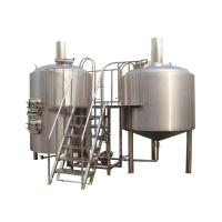 8BBL 2 Vessel Brewhouse Turn Key Beer Brewing Equipment Tri - Clamp Connection Manufactures