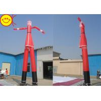 7m Huge Inflatable Santa Air Dancer Nylon Reinforced Stitching For Festival Manufactures