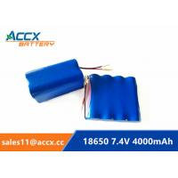 7.4V 4000mAh 2S2P 18650 battery pack for printer, remote control car grade A quality Manufactures