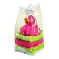 Quality Dot Painted Floating Squeezing Rubber Ducks Gift 10cm Height EN71 Standard for sale