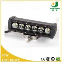 China 30w led light bar for car single row car led light bar on sale