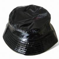 Men's Bucket/Bob Hat, Made of 100% Glossy PU Fabric, Customized Designs are Accepted Manufactures