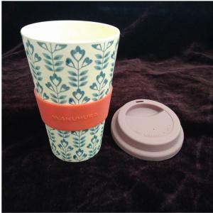 16OZ Cheap Tall ECO Unbreakable Custom Printing Colorful Bamboo Coffee Mug Manufactures