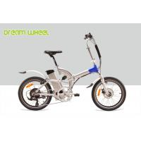 36V 250W Lightweight Electric Folding Bike Full Suspension EN15194 With Shimano Derailleur Manufactures