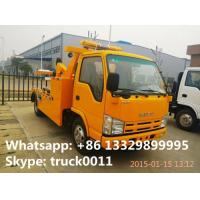 Quality 2017s new iSUZU 3tons road wrecker tow truck for sale, best price high quality for sale