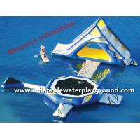 Small Lake Inflatable Water Park With Water Bouncer Toys For Kids Manufactures