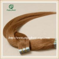 "Tape Hair extension 16""-28""L,100s/pack 10# color Straight malaysian virgin hair Manufactures"