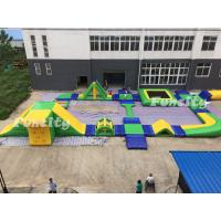 0.9mm PVC Tarpaulin Inflatable Water Park For Resort / Seashore Manufactures